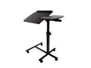 Original Lavolta Universal Projector Floor Stand Base Trolley Laptop Table Desk - Adjustable-Angle Swivel Top - Adjustable Height - Metal Frame - Easily Moved by Casters - Black