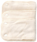 Bambinex 10-20Kg Size 2 Bamboo Stretch Inserts with Popper Fastenings for Bamboo Nappy