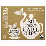 Clipper Fairtrade Organic Earl Grey 80 per pack