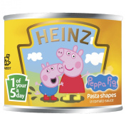 Heinz Peppa Pig Pasta Shapes in Tomato Sauce 205 g