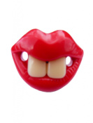 BABY SOOTHER PACIFIER FUNNY TEETH 2 FRONT TEETH