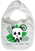 Dirty Fingers, Panda to my every need, Baby Cute Feeding Bib, White