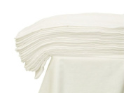 3x - 100% Cotton Muslin Square Cloth 70x80 Baby Reusable Bibs / Nappy / Wipes - WHITE