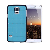 Exclusive Style for Samsung Glaxay S5 LUXURY CRYSTAL Cross Diamond Blue Case Bling Hard Cover with Black Frame For for Samsung Glaxay S5 by G4GADGET