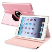 Style Icon Premium 360 Degree rotation Quality Pink Horizontal & Vertical View Leather Cover For Apple iPad Air