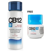 CB12 Safe Breath Oral Care Agent Mint Menthol 250ml Free Travel Size CB12 Mint Menthol 50ml