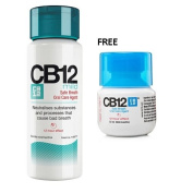 CB12 Safe Breath Oral Care Agent Mild Mint 250ml Free Travel Size CB12 Mint Menthol 50ml