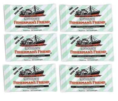 FISHERMAN'S FRIEND MINT Sugar Free Lozenges 6 x 25g FREE UK DELIVERY