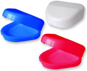 2 x Slim Dental Retainer Case, Pink, Blue or White