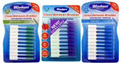 3x Wisdom Clean Between Interdental Brushes - Pack of 20 - Size Fine, Medium & XL