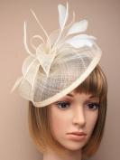 Allsorts® Large Cream Hat Fascinator Weddings Ladies Day Race Royal Ascot