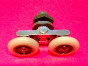 4 x Twin Shower Door Rollers/Runners/Wheels 25mm Wheel Diameter K049