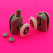 Set of 2 Single Shower Door Rollers/Runners/Wheels/Pulleys Top and Bottom 23mm wheel Dia L001