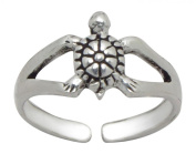 Sterling Silver Toe Ring - Turtle