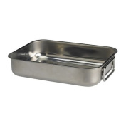 KONCIS Roasting Tin, Stainless Steel, Length: 26 cm Height