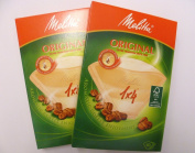 Melitta 1x4 Coffee Cup filters x 2 Packs of 40