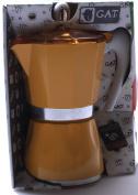 GAT Bella 6 Cup Stove Top Traditional Italian Espresso Coffee Maker Pot in Yellow