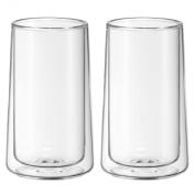 WMF 2-Piece Glass Ice-Tea Double-Walled Glass Set, Transparent
