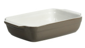 Crealys 512728 Baking Dish 25 x 15 x 5 cm Oval with Ceramic Handles Taupe