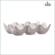 La Porcellana Bianca Uova Porcelain Egg Crate, Holds 6 Eggs P001752500