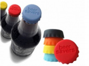 Homgaty 6PCS Silicone Reusable Bottle Cap Cover Sealer / Beer Soda Wine Savers / Lids
