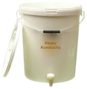 Happy Kombucha 5 Litre (1 Gallon) Plastic Brewing Container With Tap