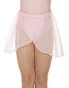 new girls roch valley ballet skirt/georgette skirt size 18 age 2-3yrs pink