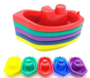 Baby Bath Time Boats - Pack of 5 - Hours of Bath Time Fun!!!!