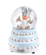 BamBam Boys Blue Musical Cake With Baby Snow Globe