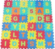 36pcs Huge Soft Jigsaw EVA Alphabet & Numbers Floor Play Mat 3.3sqm