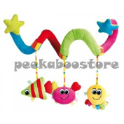 baby SPIRAL TOY buggy pushchair pram cot car seat hanging activity