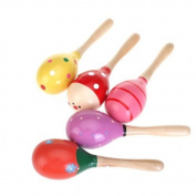 Homgaty Wood Maraca Big Rattles Shaker Percussion kid Baby Musical Toy Favour Perfect gift for kids