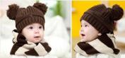 Baby Boy Brown Bobble Hat
