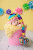 Jastore Photography Prop Baby Infant Costume Cute Flower Crochet Knitted Hat Cap