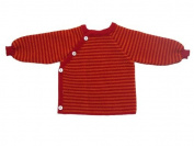 Reiff Relax 20170 - Kinitted Sweater Striped (Schluttli) Merino Wool (organic) burgundy/cayenne, Size:86/92