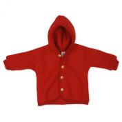 Organic Wool Fleece Baby Baby Jacket / Coat Red 86/92 12-24m