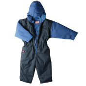 Togz 9-12 mth Navy/Royal Fleece Lined Waterproof All-in-One Suit - 76cm