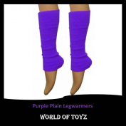 Luxurious Ladies 80's Dance Plain Ribbed Leg Warmers, Neon Leg warmers in Hot Pink, 15 Colours