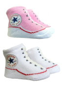 Converse Baby Booties Socks - Pink / White