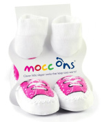 Mocc Ons By Sock Ons PINK Sneaker size 2-3 Years Months - NEW DESIGN - NEW SIZE!!