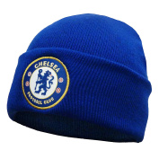 Chelsea FC Official Football Gift Knitted Bronx Beanie Hat
