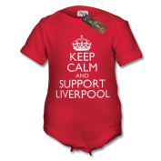 Keep Calm and Support Liverpool Baby Vest