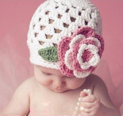Baby Flower Crochet Beanie Handmade Hat Winter Knit Cap