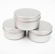 3 x 50ml Aluminium Make up Pots 50ml Capacity Empty Small Cosmetic/Candle/Spice Pots Tins Jars