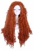 Fast shipping from UK L-email Halloween 2013 Disney Pixar Brave Princess Merida Long curly Orange Costume Men Party Wigs for Women like real hair wigs located in Uk Cb38