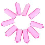 HDE 2.5cm Soft Foam Hair Rollers Cushion Curlers - 10 Pack