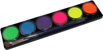 TAG Face Paint Palette Set ~ 6 x 10g Neon Colours