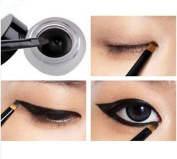 Waterproof Eyeliner Gel Makeup + Brush Black