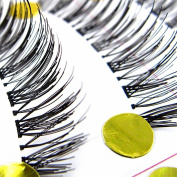 niceeshop(TM) 1 Set(10 pairs) Handcraft Reusable Thick Wispies Natural False Eyelashes with Transparent Stems
