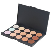 Accessotech 15 Colour Sheer Concealer Camouflage Palette Makeup Eyeshadow Bronzer Kit Set